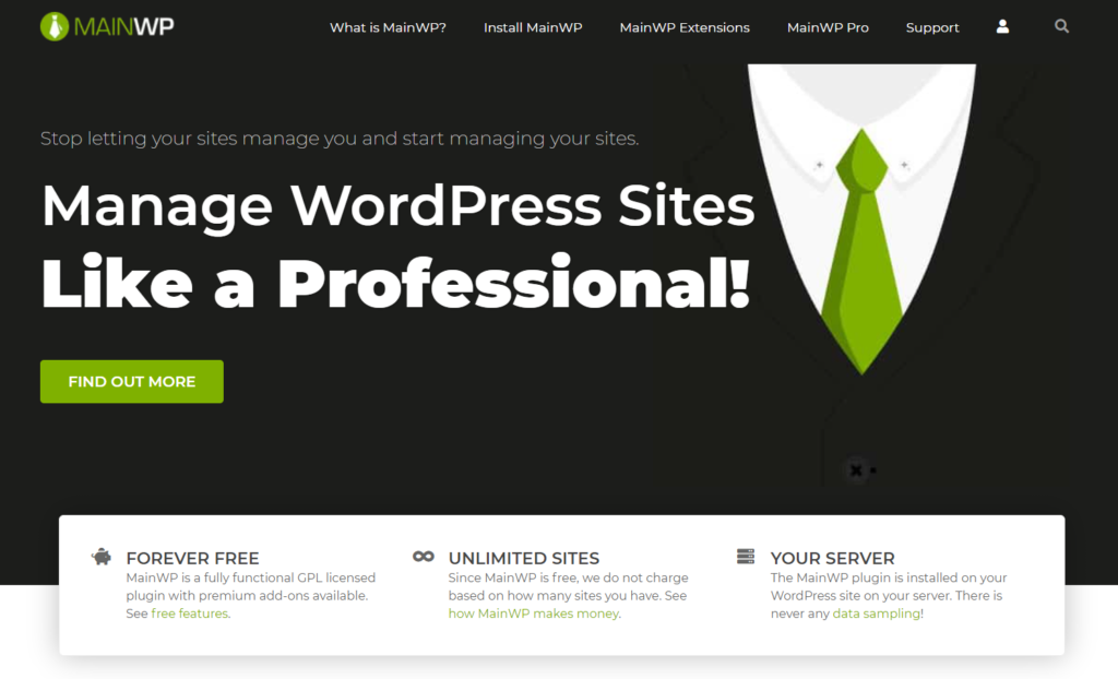 MainWP is free and does not add to your website maintenance cost
